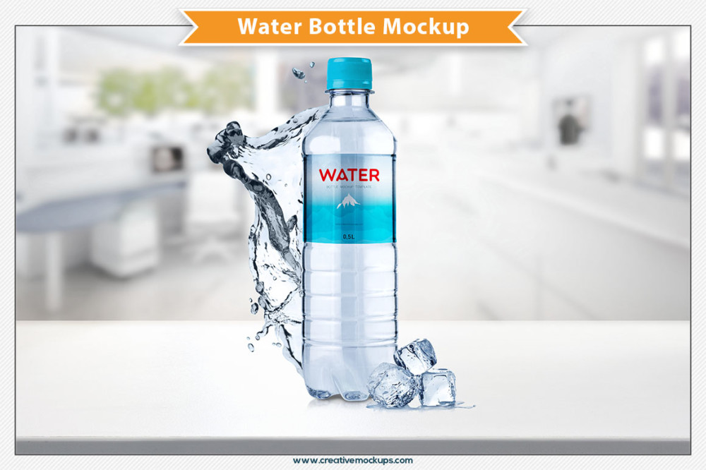 beautiful creative cool bottle mockup brand water PSD