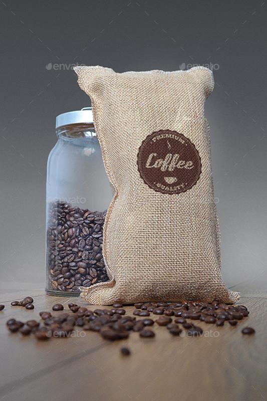 coffee bag mockup cup mockup psd mockups template