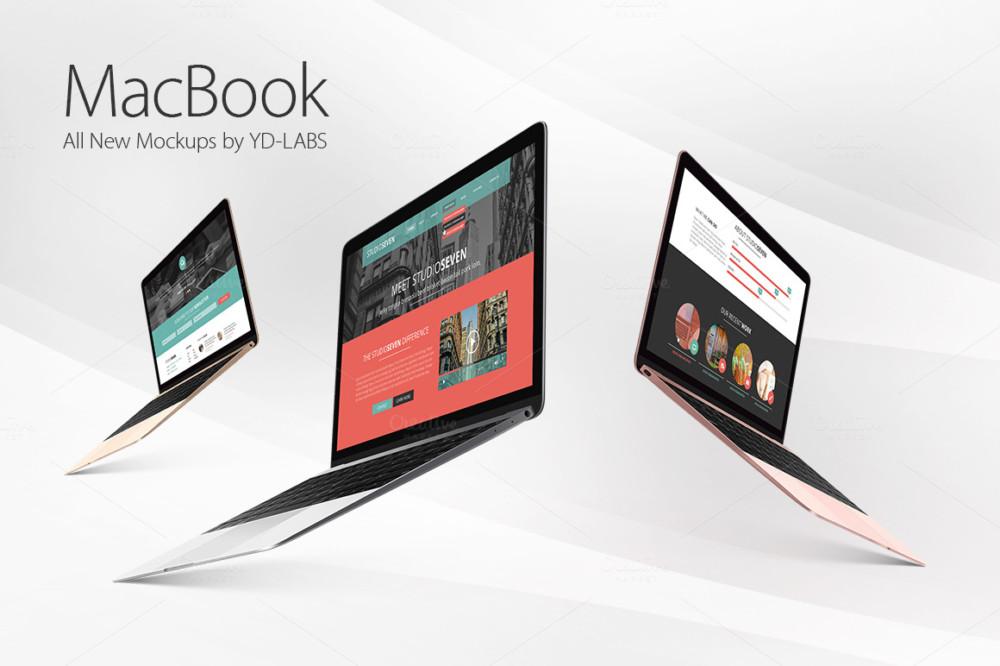 macbook-mockups-PSD tablet laptop iso mockups