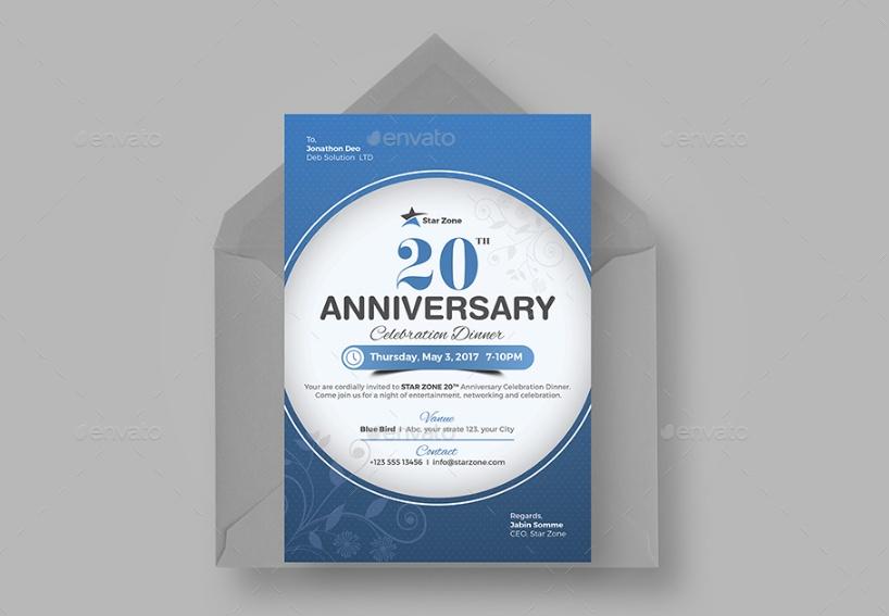20 Anniversary Invitation Template