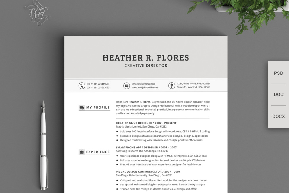 21 Pages Chronological Resume Template