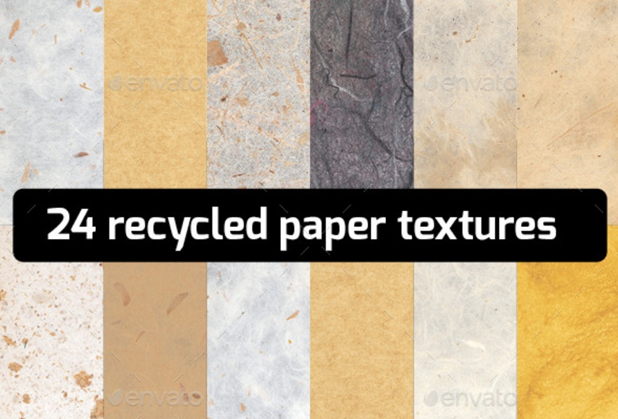 24 Recycled Paper Textures Pack