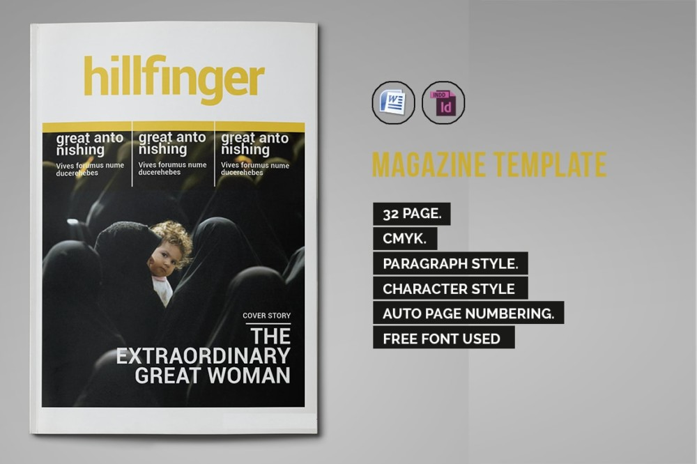 35 Pages Busimess Magazine Template Word