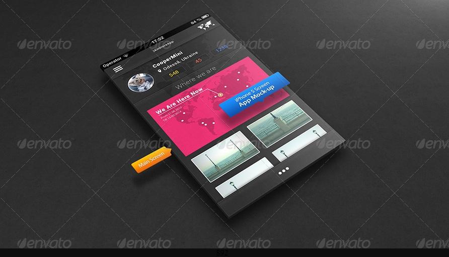 3D App Mockup PSD