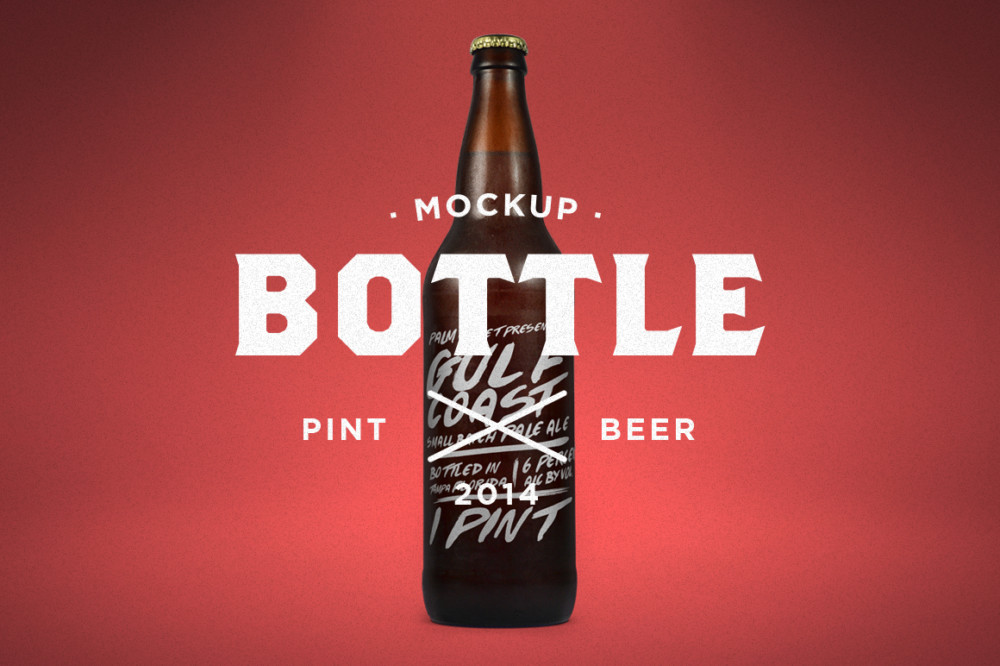free wine bottle mockup beer plastic soda psd template