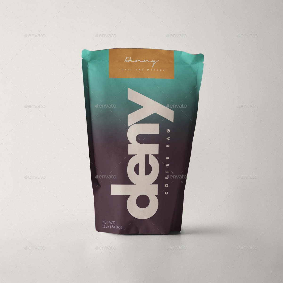 creative coffee bag and cup mockup psd template