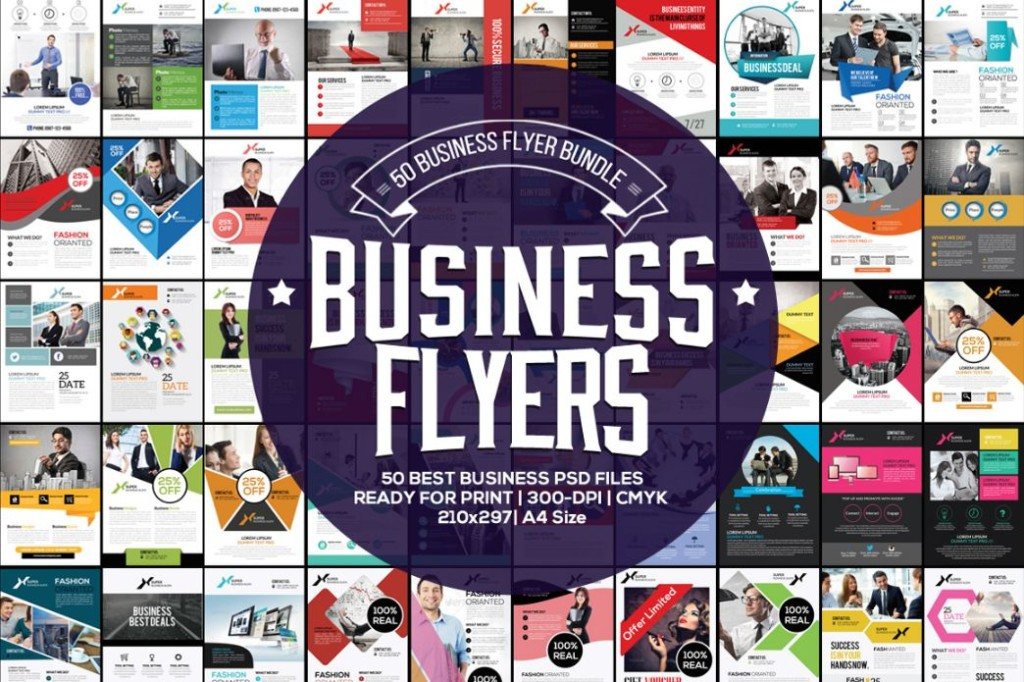 50 Business Flyer Template Bundle