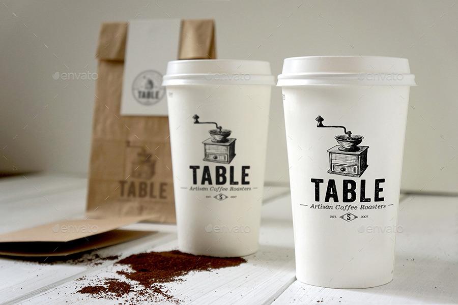 coffee branding mockup_free coffee bag coffee cup mockup psd