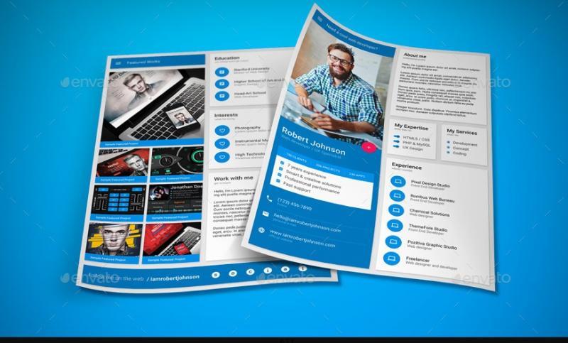 A4 Designer Resume Template PSD