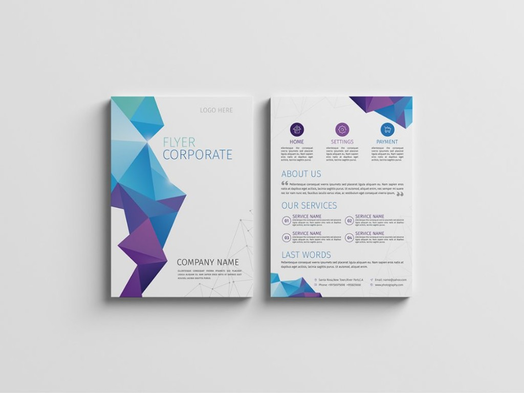 A4 Size Corporate Flyer Template PSD