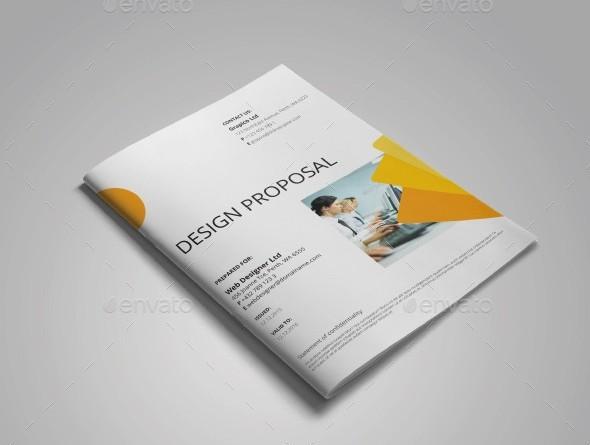 A4 Web Design Proposal Template