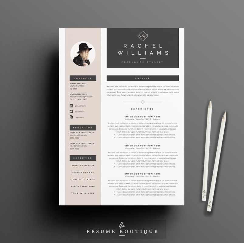 A4 and US Letter Teacher Resume Template Word Format ...