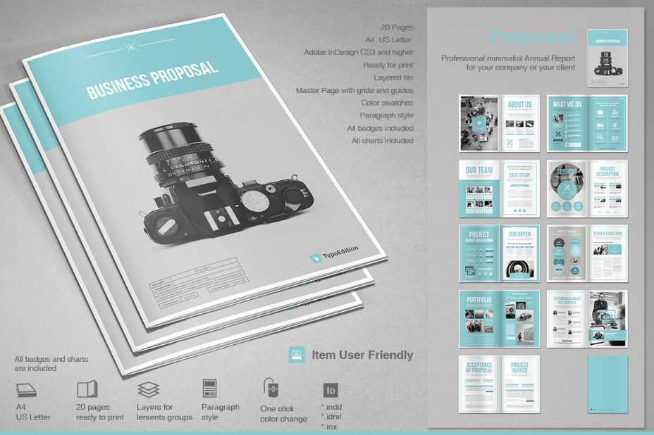 Photography Proposal Template Word Eps Ai And Psd Format