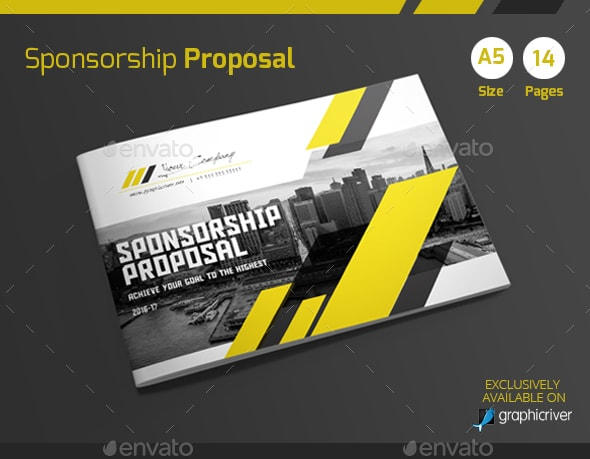 A5 Sponsorship Proposal Template Graphic Cloud