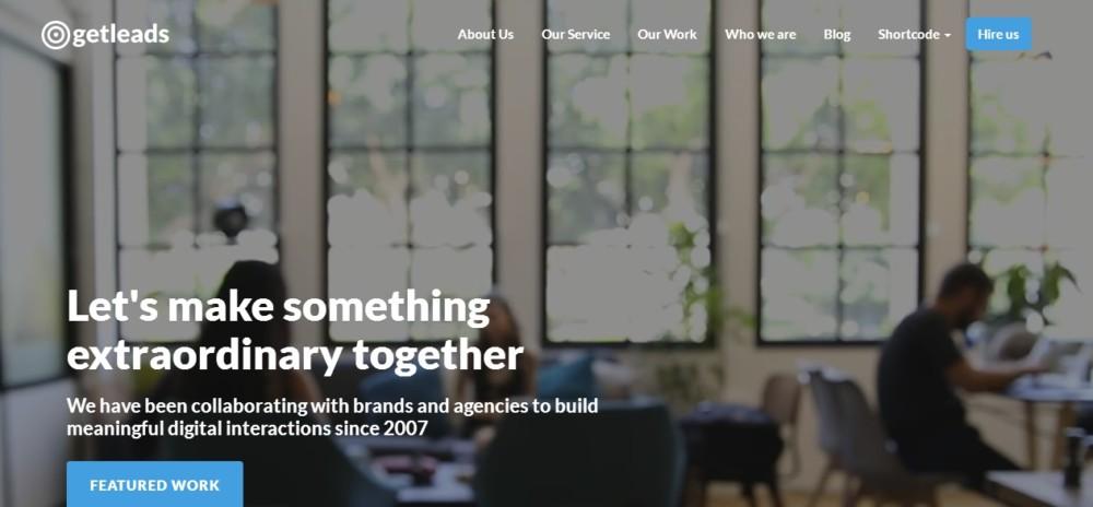 Agency Landing page WordPress Theme