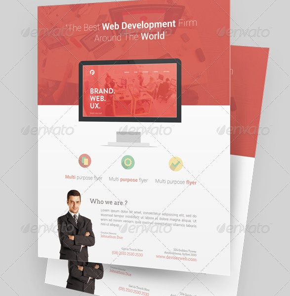 Agency Marketing Flyer Template PSD