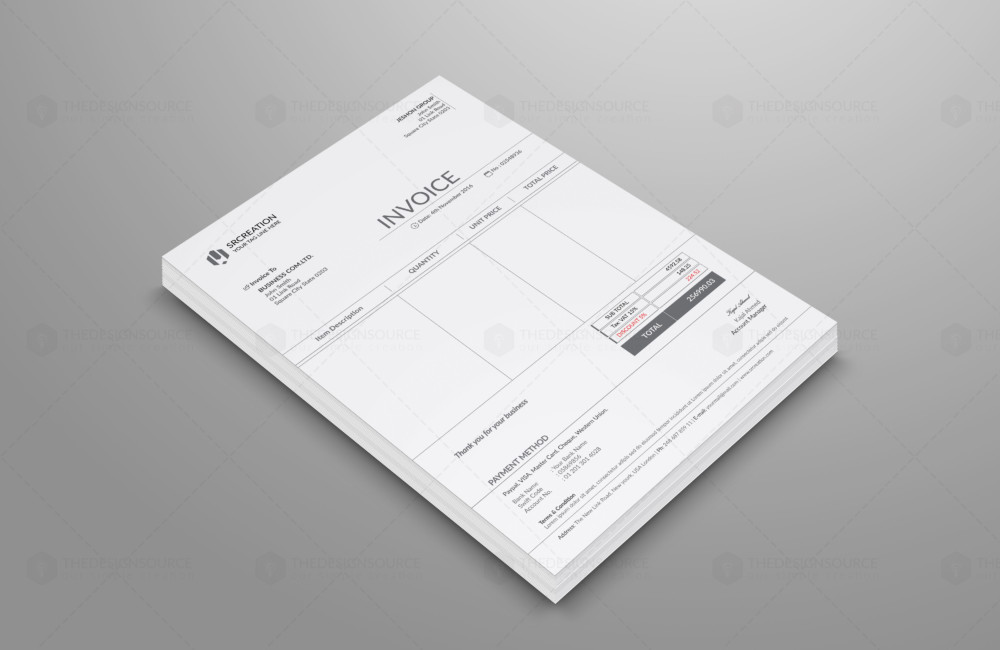 Ai and EPS Corporate Invoice Template