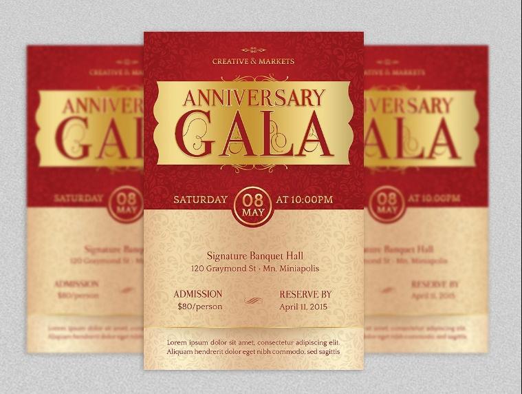 Anniversary Flyer Template PSD