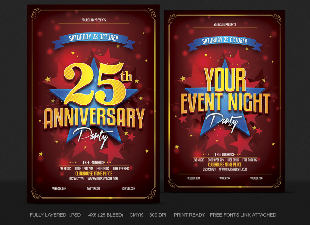 Anniversry Party Flyer Template