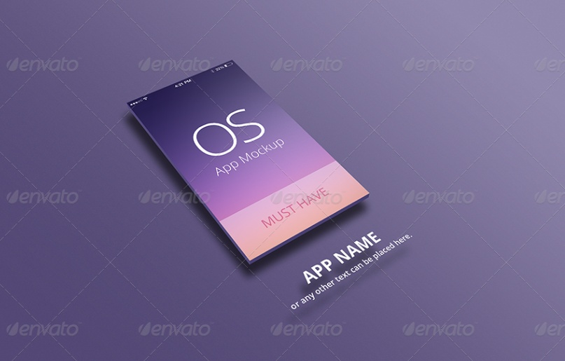 Apple Device App Mockup