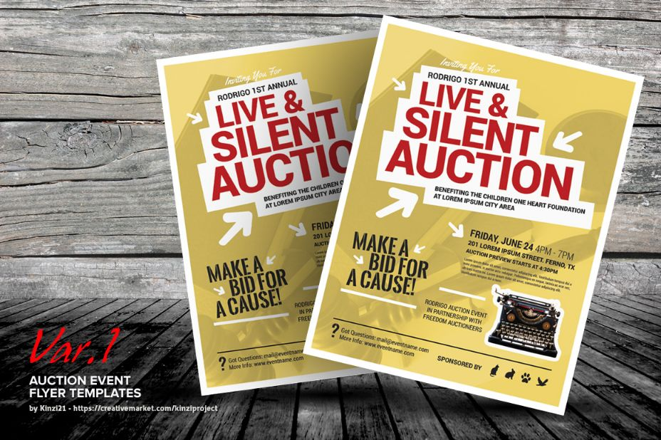 Auction Event Flyer Template