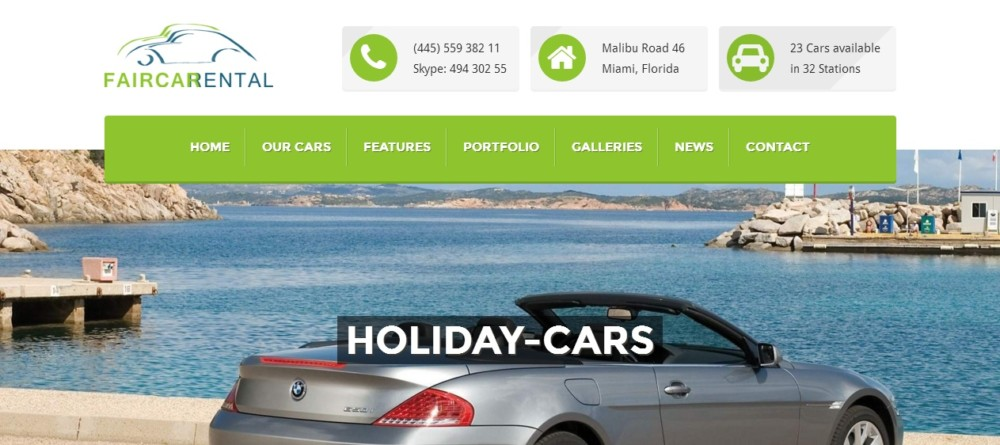 Automotive WordPress Theme for Car Rentals