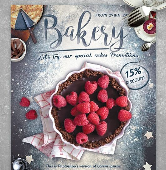 Bakery Promotional Flyer Template