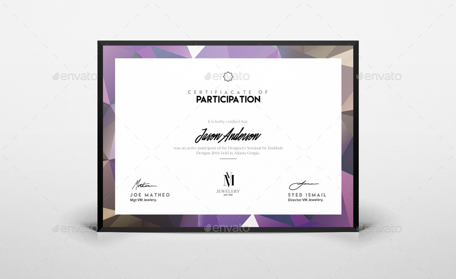 Best Certificate of Participation Template