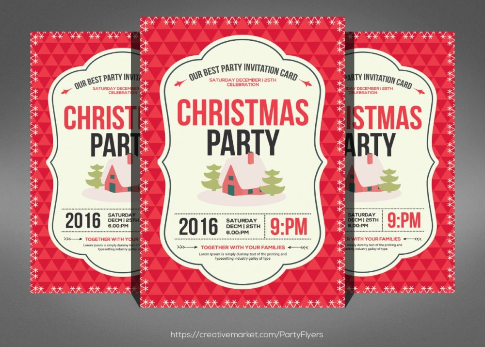 Best Christmas Invitation Template PSD
