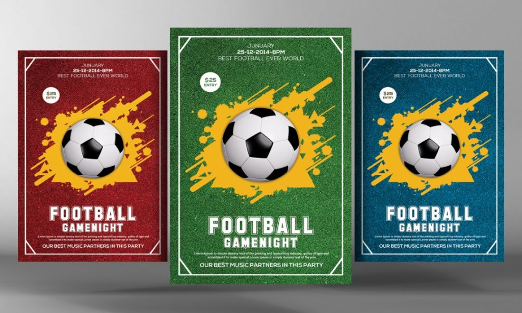 Best Football Event Flyer Template