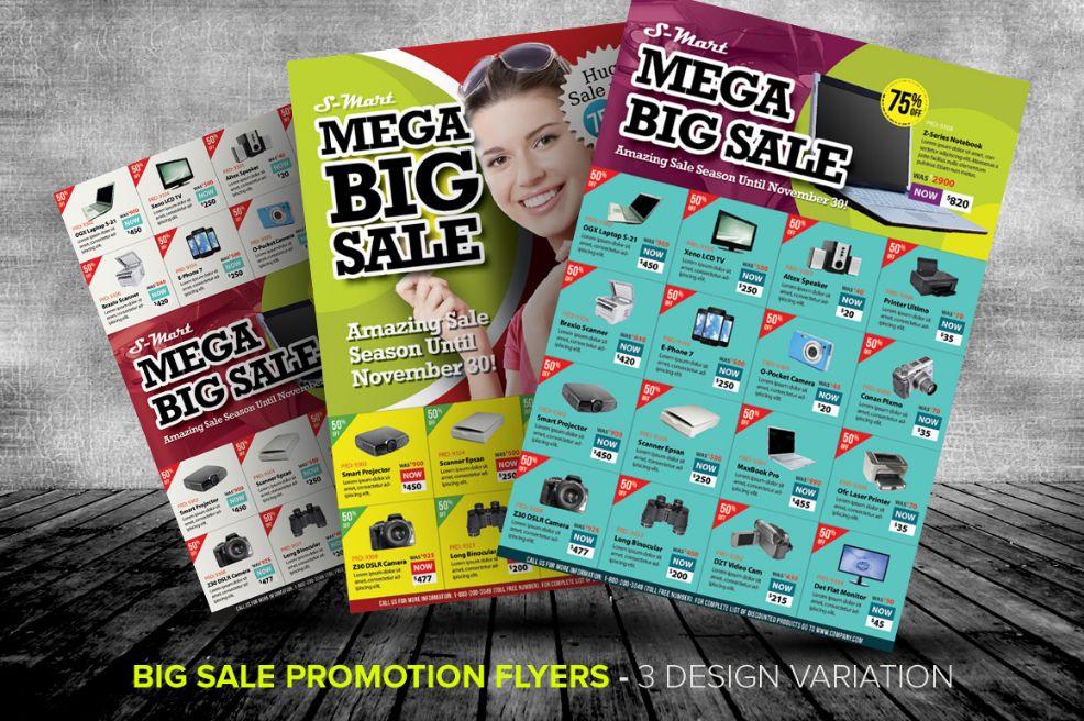 Big Sales Promotional Flyer Template