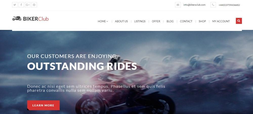 Biker Club WordPress Theme