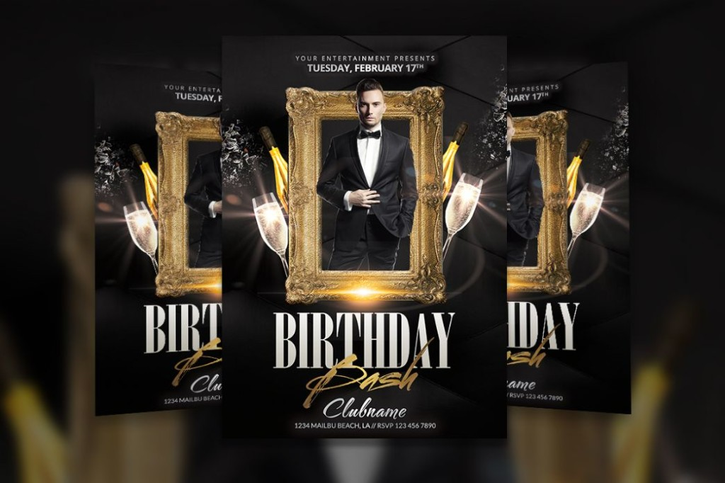 Birthday Bash Flyer Template PSD