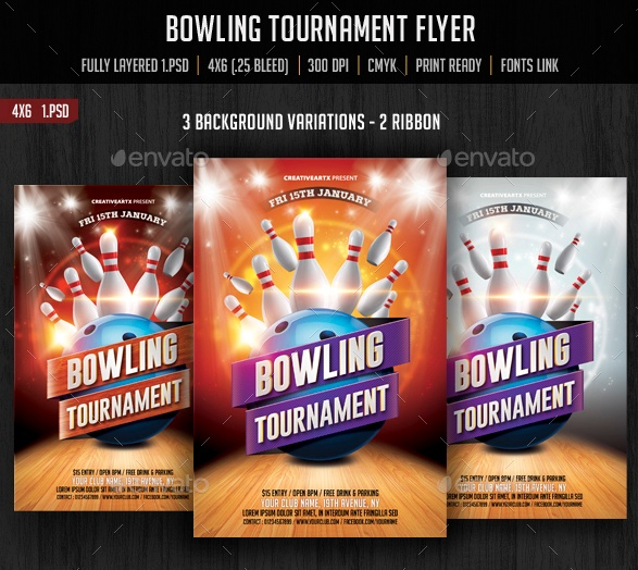 Bowling Invitation Flyer