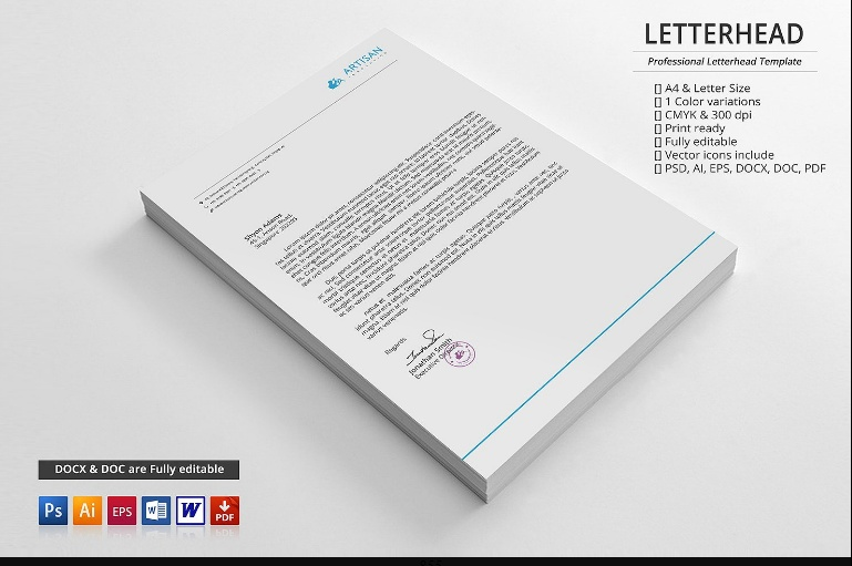 Business Lettehead Template Printable