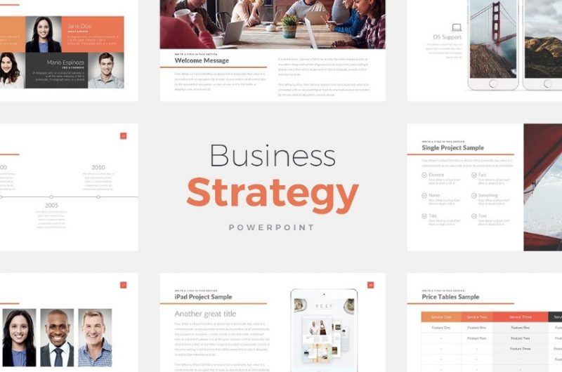 Business Strategy Website Template