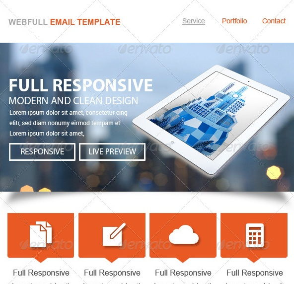 Bussiness E Mail Template PSD