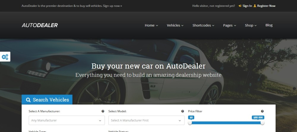 Car Marketplace WordPress Theme