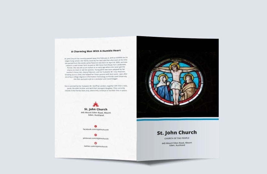 20 Funeral Brochure Template Word Indesign And Psd Format