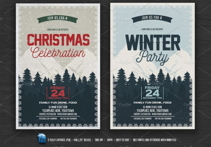 Christamas Celebration Flyer Template