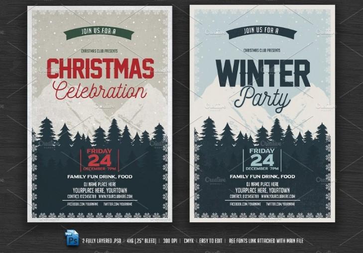 Christamas Celebration Flyer Template