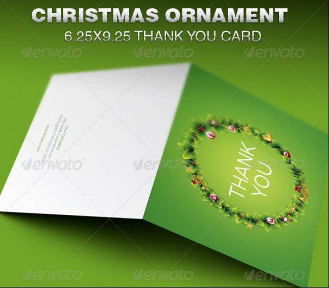 Christamas Thank You Card Template