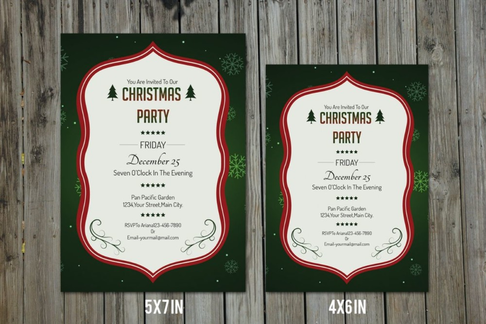 Christmas Invitation Template PSD