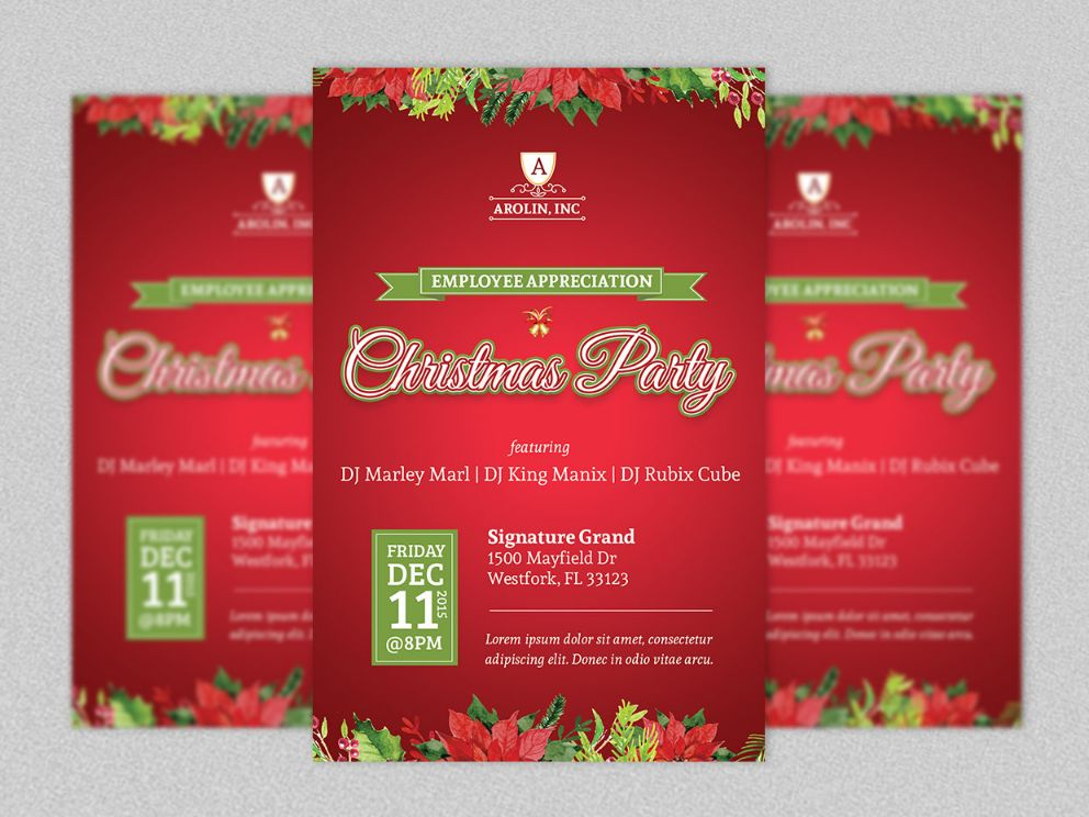 Christmas Party PSD TEmplate