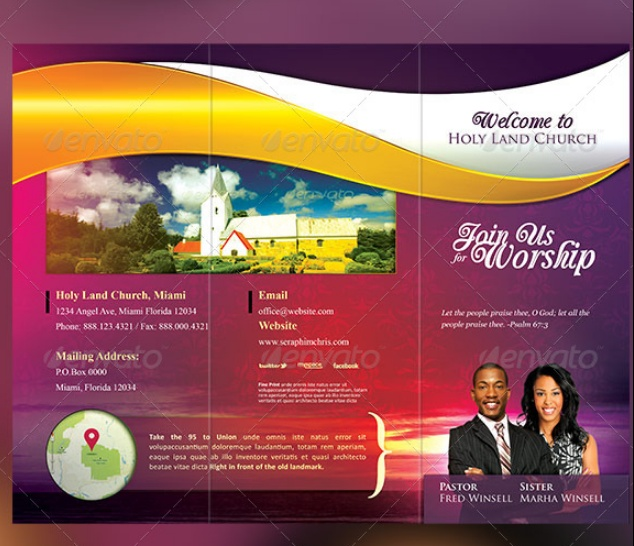 Church Brochure Template