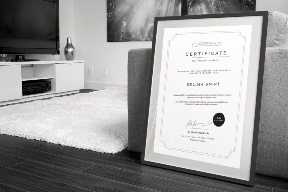 Clean Award Certificate Template