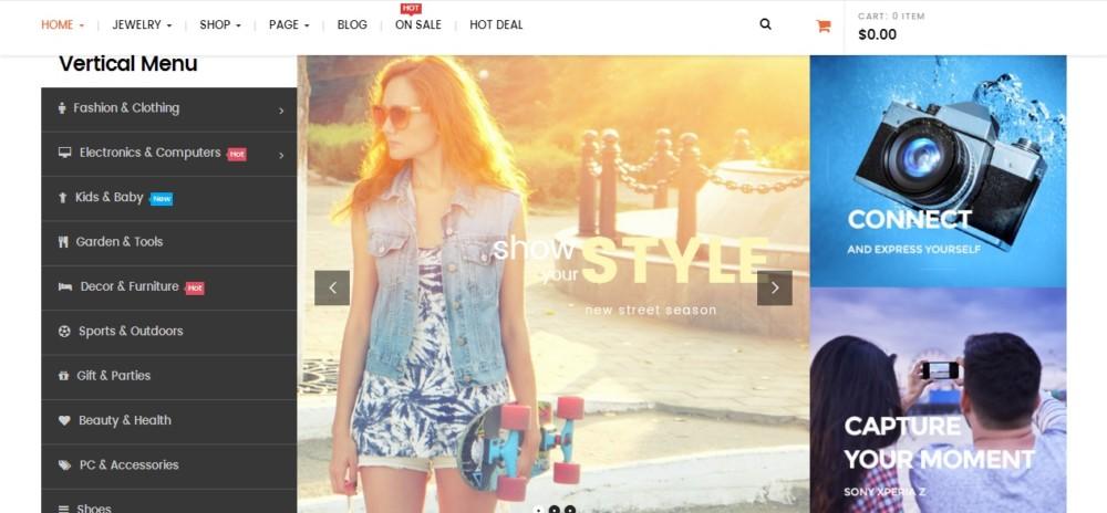 Clean Fashion WordPress eCommerce Theme