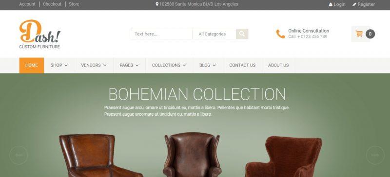 Clean Furniture WordPress Theme