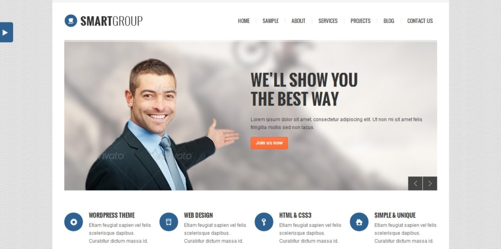 Clean Marketing WordPress Theme