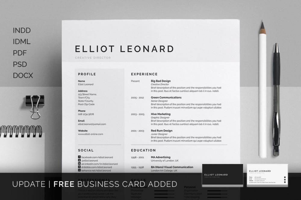 Clean Multipurpose Business Resume Template